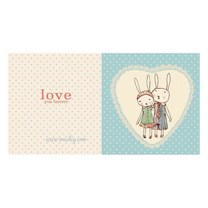 KARTKA BUNNIES IN LOVE Maileg